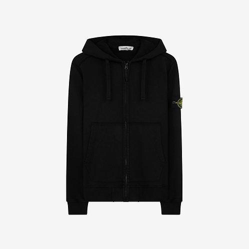 Stone Island Hooded Zip Sweatshirt - Black