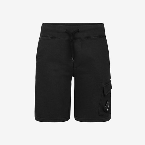 C.P. Company Kids Sweat Shorts with Goggle Detail - Black