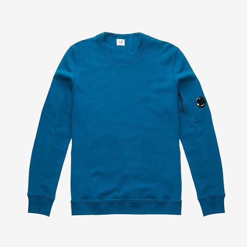 C.P. Company Diagonal Fleece Lens Sweatshirt - Moroccan Blue