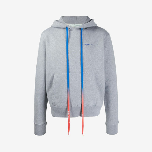 Off-White Acrylic Arrows Hooded Sweatshirt Grey