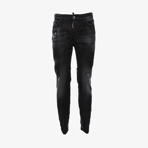 Dsquared2 Distressed Effect Slim Jeans - Black