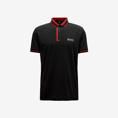 Boss Green Polo with Moisture Mangement- Paddy Pro - Black & Red