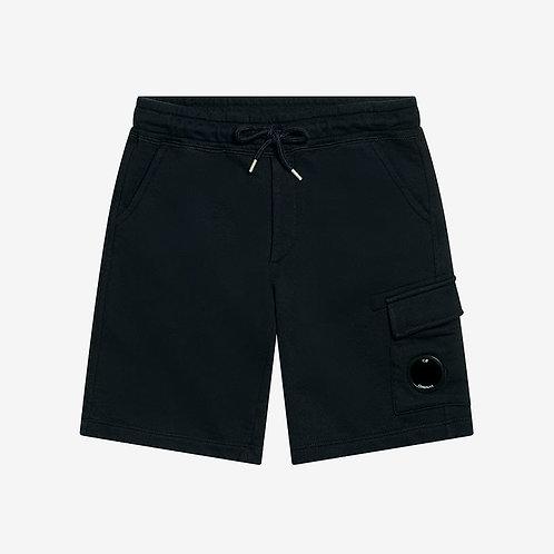 C.P. Company Kids Fleece Lens Sweat Shorts - Total Eclipse Navy