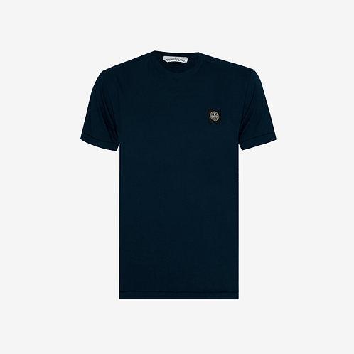 Stone Island Patch Logo T-Shirt Navy Mens Fashion