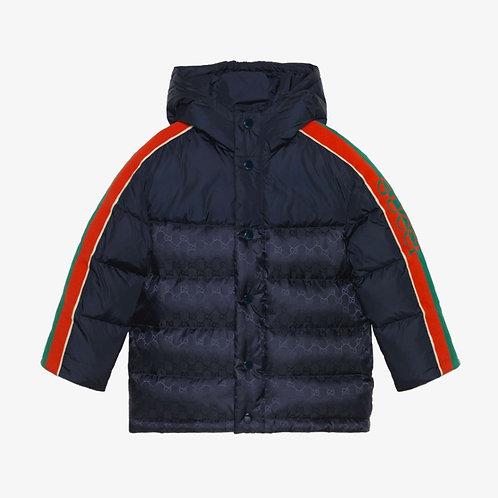 Gucci Kids GG Nylon Puffer Down Jacket - Navy