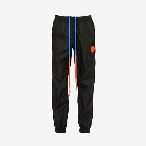 Off-White Track Pants with Stripe and Orange Details Black Bottoms