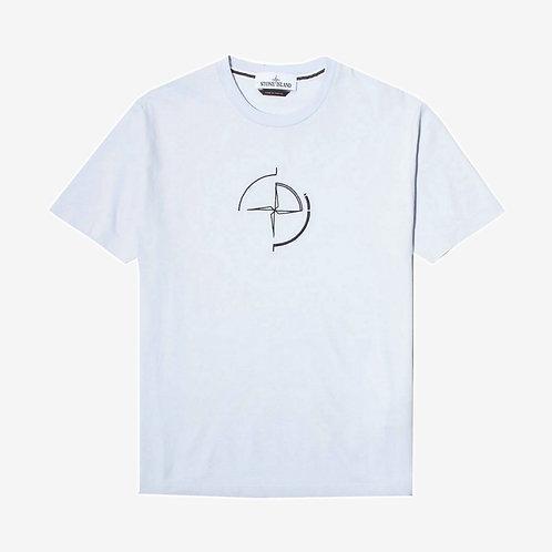 Stone Island Data Scan T-Shirt - Sky Blue
