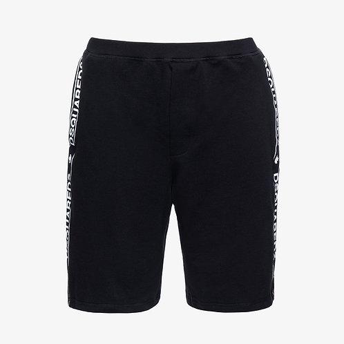 Dsquared2 Logo Tape Shorts - Black