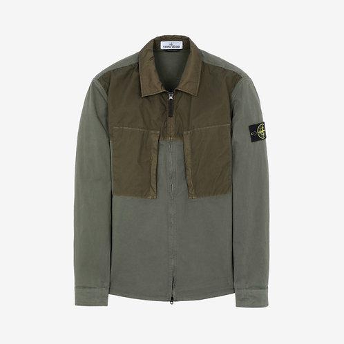 Stone Island Zip Pocket Overshirt - Olive Green