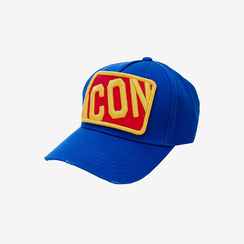 Dsquared2 Icon Square Badge Cap Blue Red Yellow Mens Fashion