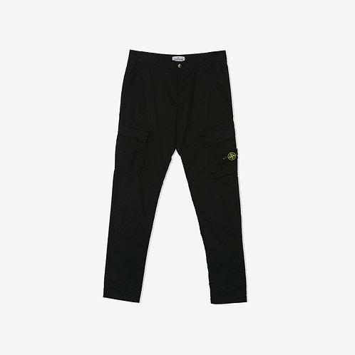Stone Island Junior Cargo Pants Black Front