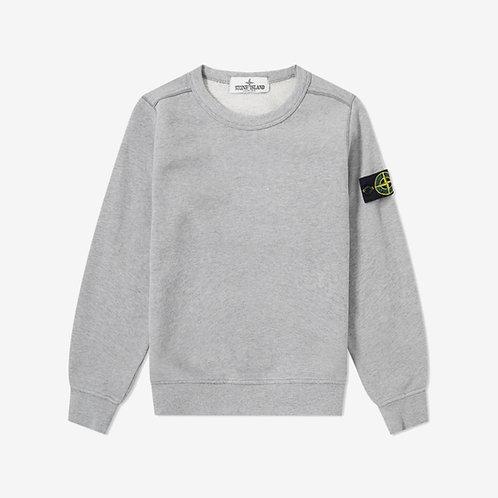 Stone Island Junior Crew Sweatshirt - Melange Grey