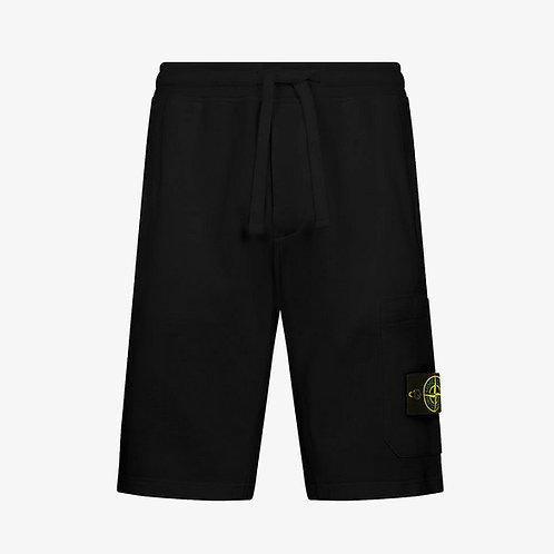 Stone Island Fleece Shorts - Black