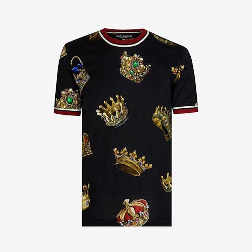 Dolce & Gabbana D&G All-Over Crown T-shirt - Black
