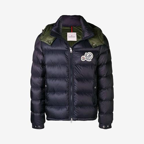 Moncler 'Bramant' Hooded Padded Down Jacket - Dark Blue