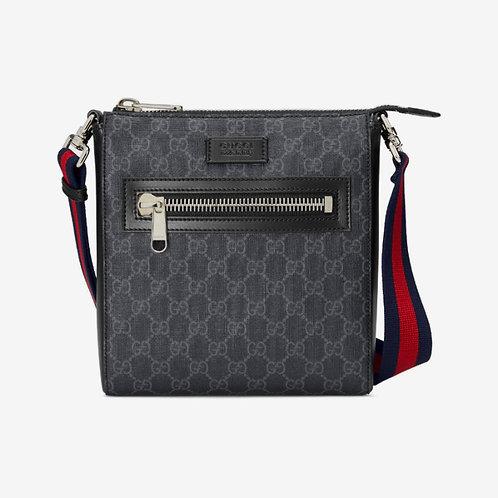 Gucci GG Small Messenger Bag Black and Grey