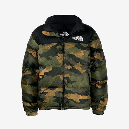 North Face 1996 Retro Nuptse Jacket - Burnt Olive Green Camo