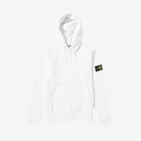 Stone Island Hooded Pullover Sweatshirt - White