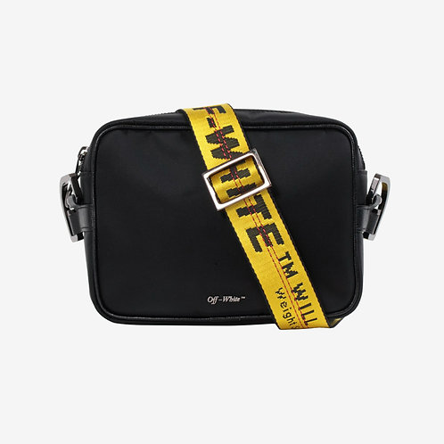 Off-White Cross-Body Industrial Bag Black and Yellow