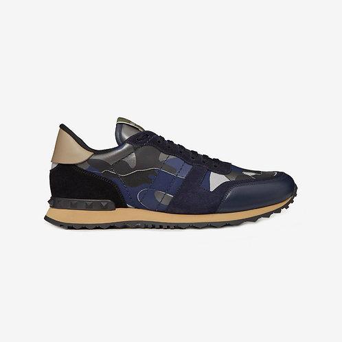 Valentino Camouflage Rockrunner Sneakers - Dark Blue