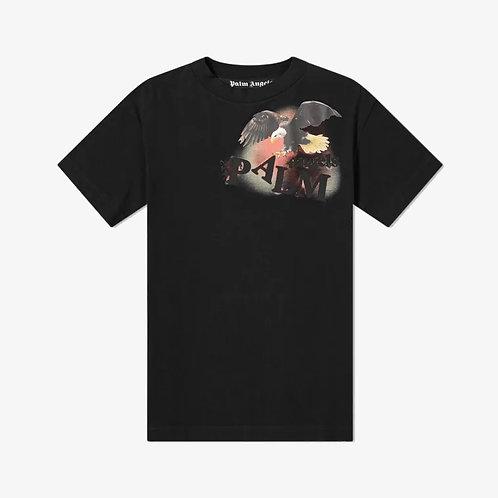 Palm Angels Eagle Print T-Shirt - Black