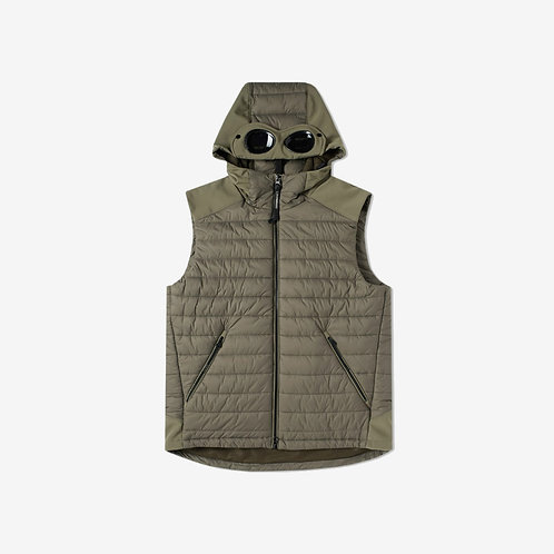 C.P. Company Hooded Goggle Padded Gilet - Green