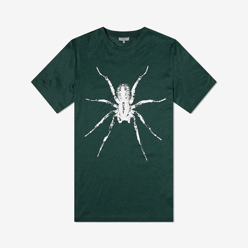 Lanvin Spider Print T-Shirt - Green and White