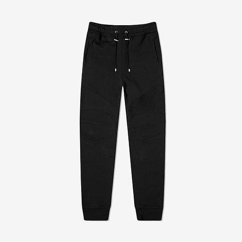 Balmain Slim-Leg Elastic Sweatpants with Logo - Black