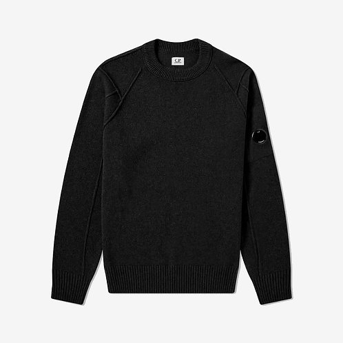 C.P. Company Arm Lens Crew Knit - Black