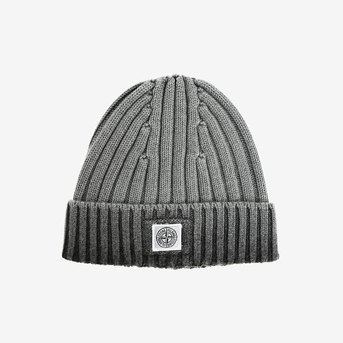 Stone Island Junior Faded Beanie Hat - Grey and Black