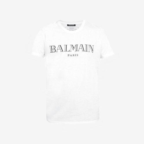 Balmain Paris Logo T-Shirt - White