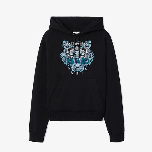 Kenzo Embroidered Tiger Hoodie - Black