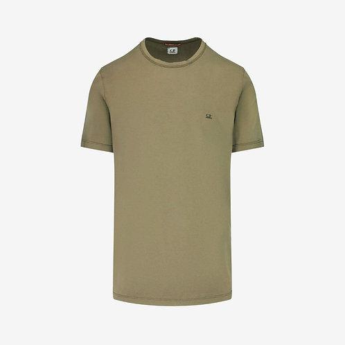 C.P. Company Logo Print Mako T-Shirt - Olive Green