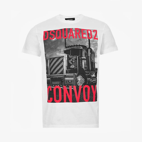 Dsquared2 Truck Convoy T-Shirt - White