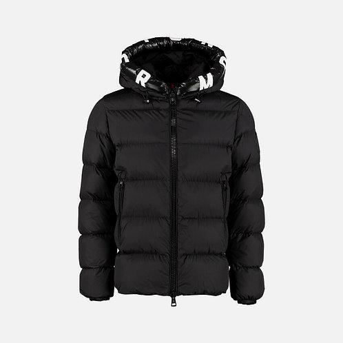 Moncler 'Dubois' Logo Hooded Padded Down Jacket - Black