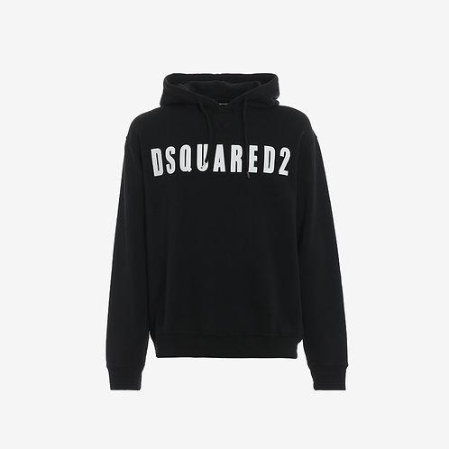 Dsquared2 Print Hoodie - Black
