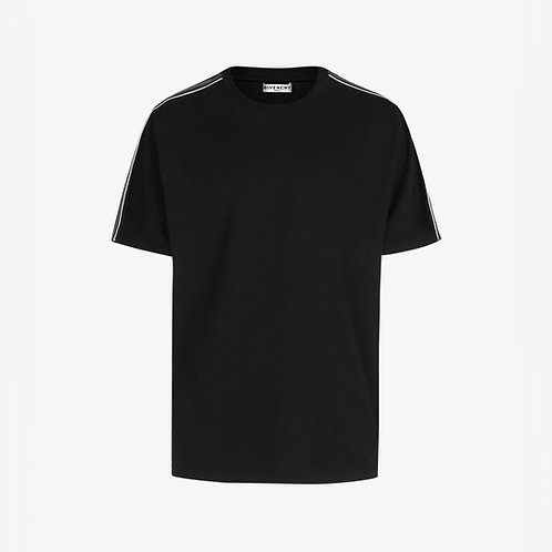 Givenchy Paris Contrasted Logo Tape T-Shirt - Black