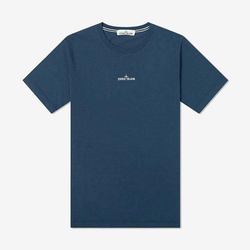 Stone Island Chest Logo Back Print T-Shirt - Blue Marine
