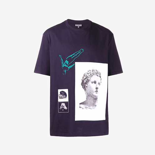 Lanvin Greek Statue Print T-Shirt - Purple
