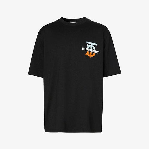 Burberry Monogram Motif Over-Sized T-Shirt - Black