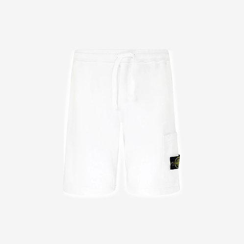 Stone Island Fleece Shorts - White