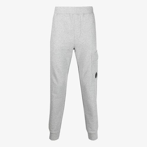 C.P. Company Diagonal Raised Fleece Lens Sweatpants - Grey Melange