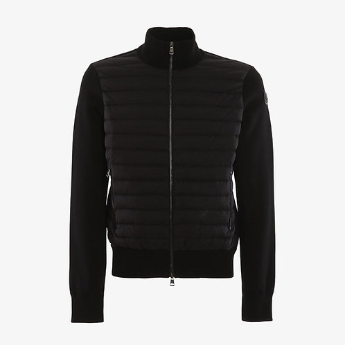 Moncler Padded-Front Knitted Jacket - Black