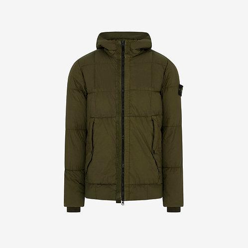 Stone Island Hooded Down Jacket Olive Padded Men Fashion
