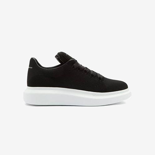 Alexander McQueen Oversized Knit Sneaker Black New