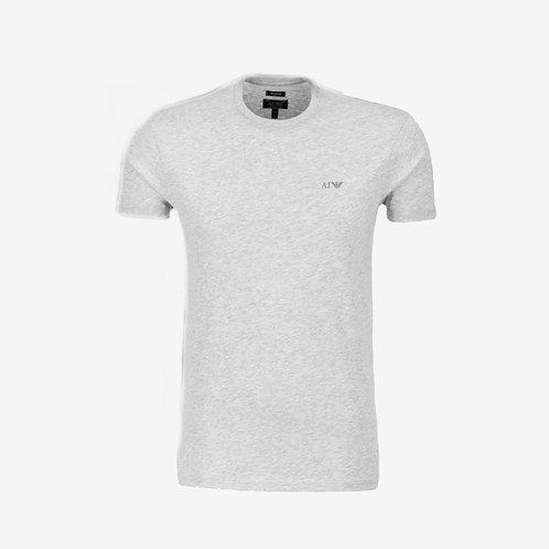 Armani Jeans T-shirt with Dark Grey Logo Designer Menswear