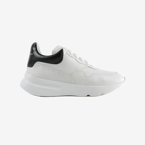 Alexander McQueen Oversized Leather Sneaker White Black Men