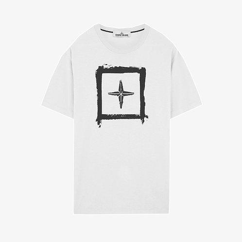 Stone Island Logo Print T-Shirt - White