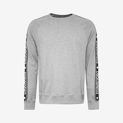 Dsquared2 Logo Tape Print Sweatshirt - Grey