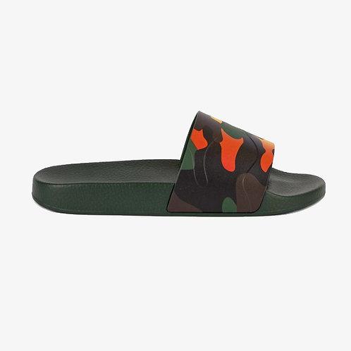Valentino Camouflage Rubber Sliders - Rainbow
